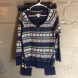 Victoria's Secret thermal pajamas large